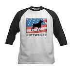 Patriotic Rottweiler Kids Baseball Jersey