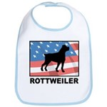 Patriotic Rottweiler Bib