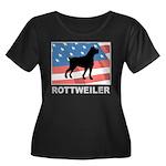 Patriotic Rottweiler Women's Plus Size Scoop Neck