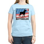 Patriotic Rottweiler Women's Light T-Shirt