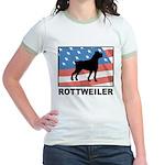 Patriotic Rottweiler Jr. Ringer T-Shirt