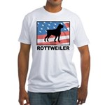 Patriotic Rottweiler Fitted T-Shirt