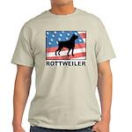 Patriotic Rottweiler Light T-Shirt