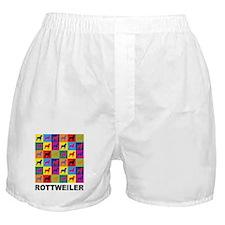 Pop Art Rottweiler Boxer Shorts