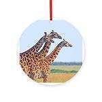 Three Giraffes Ornament (Round)