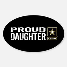 U.S. Army: Proud Daughter (Black) Decal
