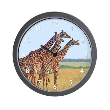 Three Giraffes Wall Clock