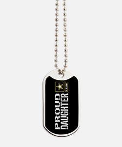 U.S. Army: Proud Daughter (Black) Dog Tags