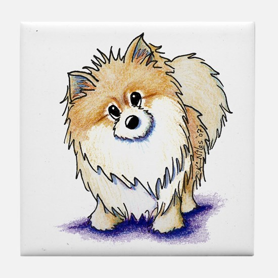Curious Pom Tile Coaster