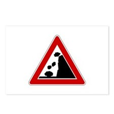 Falling Rocks Road Sign Postcards (Package of 8)