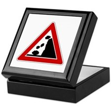 Falling Rocks Road Sign Keepsake Box