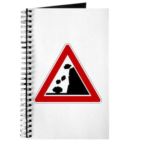 Falling Rocks Road Sign Journal