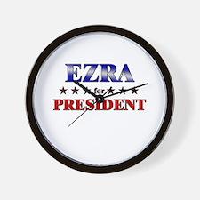 EZRA for president Wall Clock