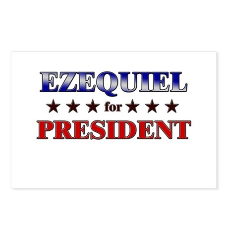 EZEQUIEL for president Postcards (Package of 8)