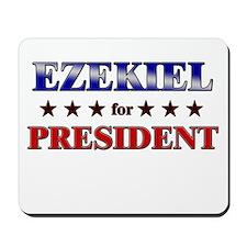EZEKIEL for president Mousepad