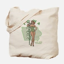Faded Iowa Pinup Tote Bag