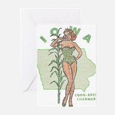 Faded Iowa Pinup Greeting Cards