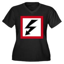 High Voltage Women's Plus Size V-Neck Dark T-Shirt
