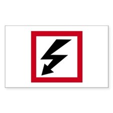 High Voltage Rectangle Decal