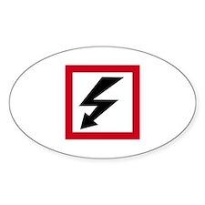 High Voltage Oval Sticker