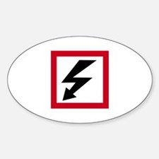 High Voltage Oval Decal