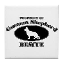 Property of German Shepherd R Tile Coaster