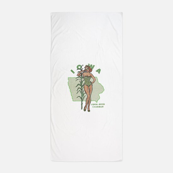 Faded Iowa Pinup Beach Towel