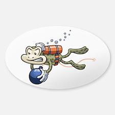 Frogman Sticker (Oval)