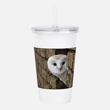 Peek-a-Boo Owl Acrylic Double-wall Tumbler