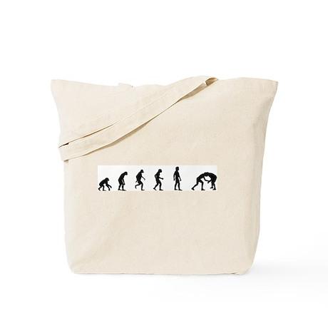 Evolution of Wrestling Tote Bag
