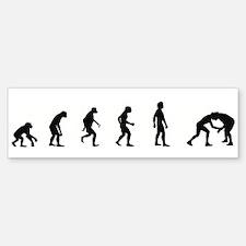 Evolution of Wrestling Bumper Bumper Bumper Sticker