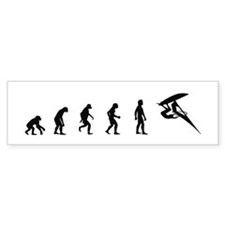 Evolution of Windsurfing Bumper Car Sticker