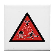 Radiation Hazard Tile Coaster