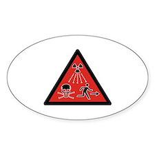 Radiation Hazard Oval Sticker