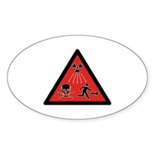 Radiation Hazard Oval Decal