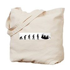Evolution of White Water Raft Tote Bag