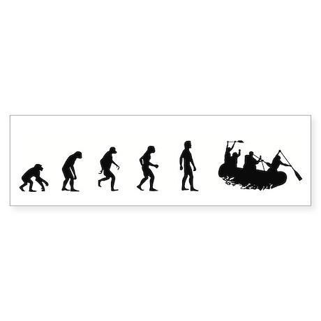 Evolution of White Water Raft Bumper Sticker