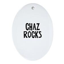 Chaz Rocks Oval Ornament