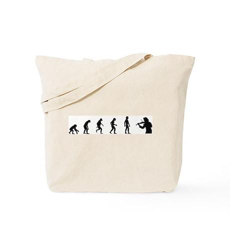 Evolution of Violin Tote Bag