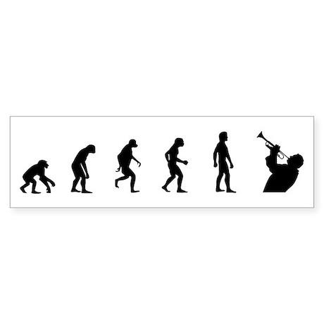 Evolution of Trumpet Bumper Sticker