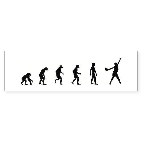 Evolution of Softball Bumper Sticker