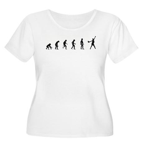 Evolution of Softball Women's Plus Size Scoop Neck