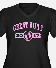 Great Aunt 2 Women's Plus Size V-Neck Dark T-Shirt