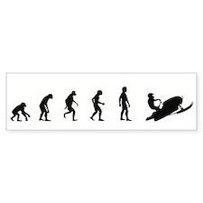 Evolution of Snowmobiling Bumper Bumper Sticker