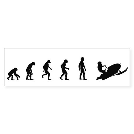 Evolution of Snowmobiling Bumper Sticker