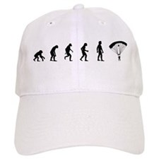 Evolution of Skydiving Baseball Baseball Cap