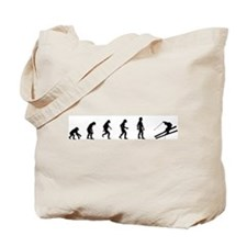 Evolution of Skiing  Tote Bag