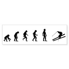 Evolution of Skiing Bumper Bumper Sticker
