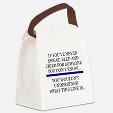 Funny Sheriff thin blue line Canvas Lunch Bag