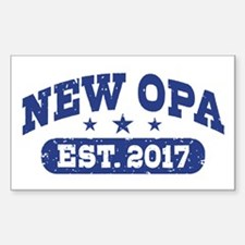 New Opa Est. 2017 Sticker (Rectangle)